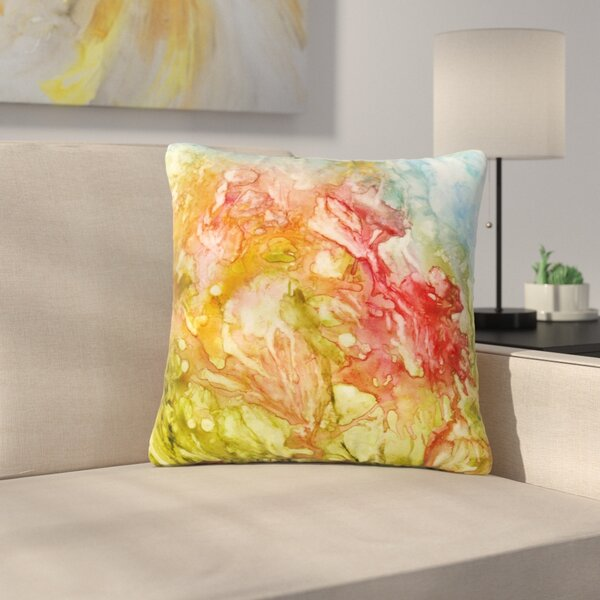 Rosie Brown Fantasy Garden Painting Outdoor Throw Pillow by East Urban Home