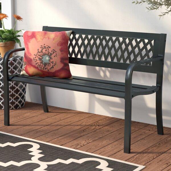 Kirwin Steel Garden Bench by Andover Mills