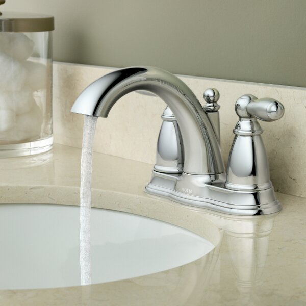 Brantford Centerset Bathroom Faucet with Drain Assembly by Moen