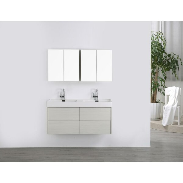 47 Wall-Mounted Double Bathroom Vanity Set with Mirror by Streamline Bath
