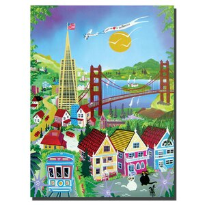 San Francisco by Herbet Hofer Graphic Art on Wrapped Canvas by Trademark Fine Art