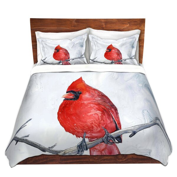 Winter Cardinal Duvet Cover Set