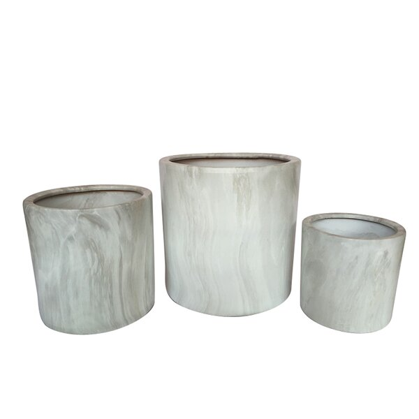 Hilger Eclectic 3-Piece Ceramic Pot Planter Set by Wrought Studio