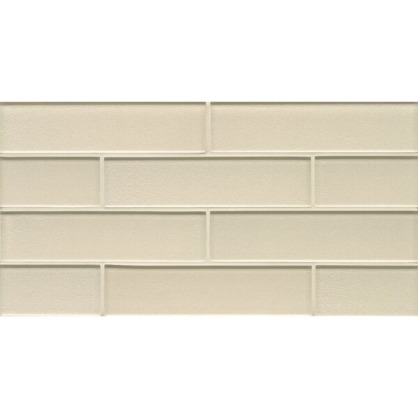 Remy Glass Mosaic Gloss Mesh Mount Tile in Champagne by Grayson Martin