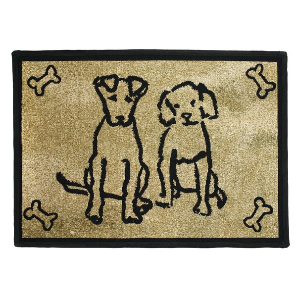 PB Paws & Co. Gold Dog Friends Tapestry Area Rug by Park B Smith Ltd