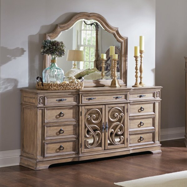 George 9 Drawer Combo Dresser with Mirror by One Allium Way