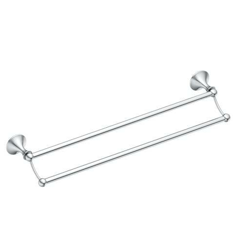 Lounge Double 24 Wall Mounted Towel Bar by Moen