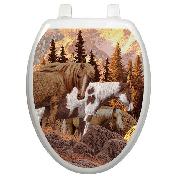 Themes Wild Horses Toilet Seat Decal by Toilet Tattoos