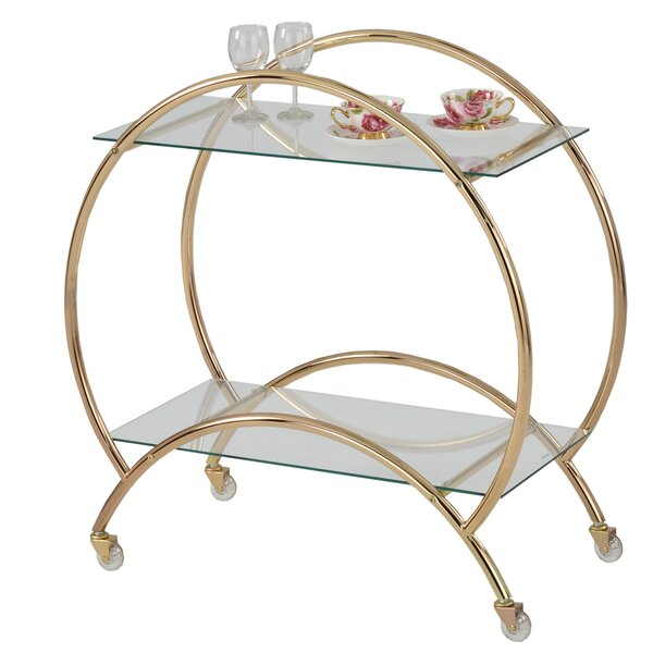 Baird Rolling Bar Cart by House of Hampton