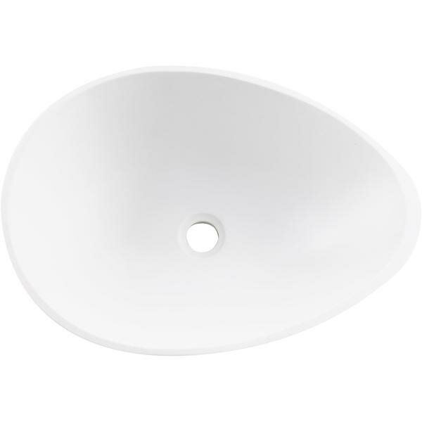 Stone Oval Vessel Bathroom Sink by AGM Home Store