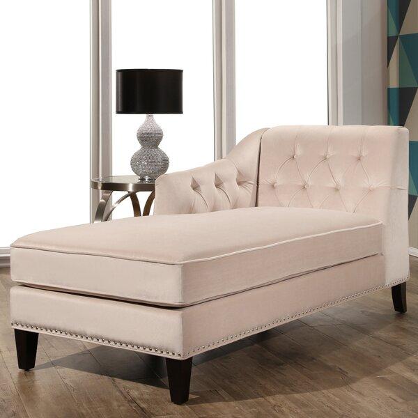 Macdonald Velvet Chaise Lounge by Willa Arlo Interiors