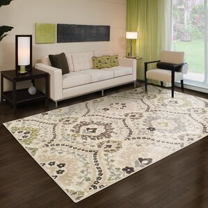Jenn Ivory Green Area Rug