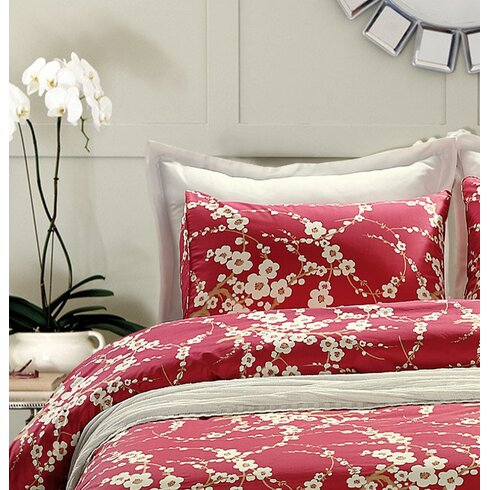 Sweety Pie Inc Japanese Oriental Floral Duvet Cover Set