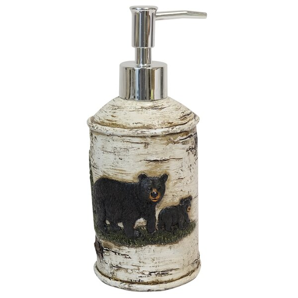 Bear On Birch 8 Case Soap & Lotion Dispenser by De Leon Collections