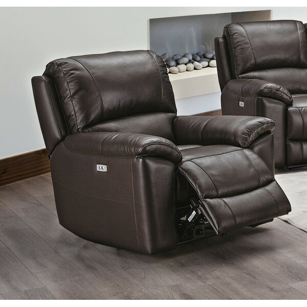 Clarisse Genuine Leather Power Recliner W002398986