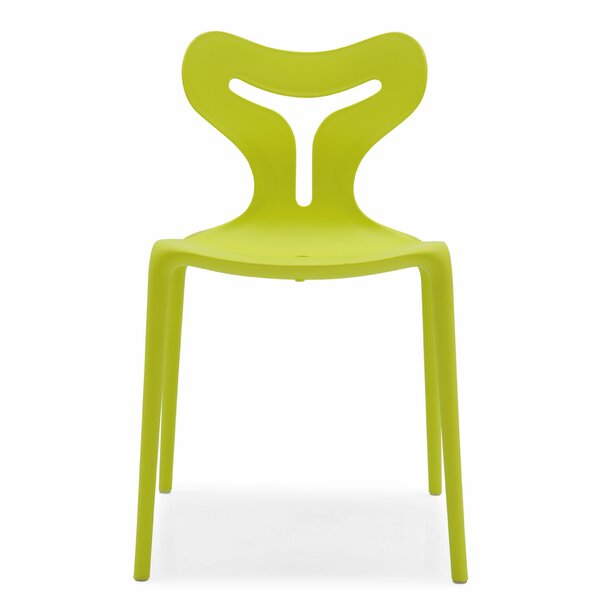 Addey Stacking Patio Dining Chair by Wrought Studio Wrought Studio