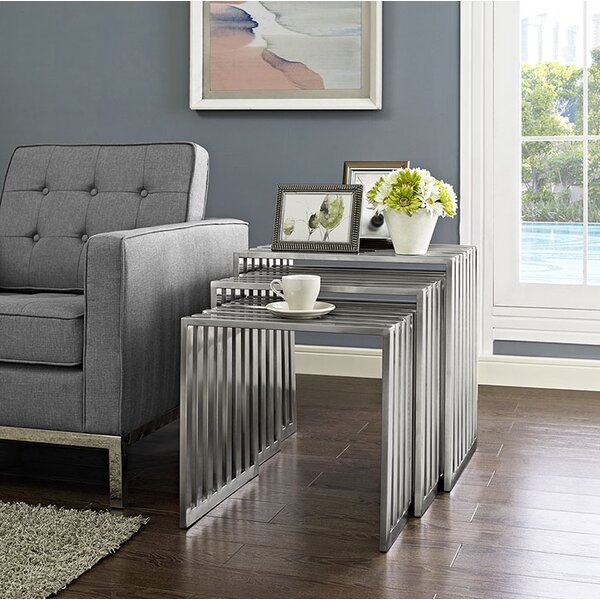 Duct 3 Piece Nesting Tables by Modway