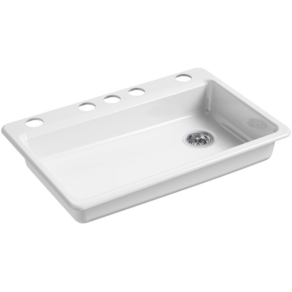 Riverby 33 L x 22 W Undermount Single Bowl Kitchen Sink by Kohler