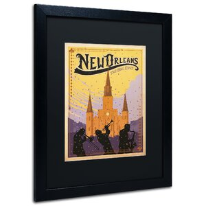 'New Orleans' by Anderson Design Group Framed Vintage Advertisement by Trademark Fine Art