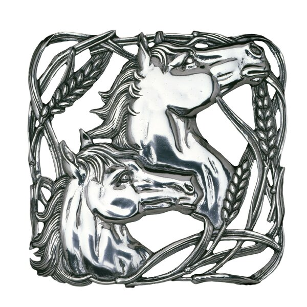 Equestrian Horse with Wheat Trivet by Arthur Court Designs