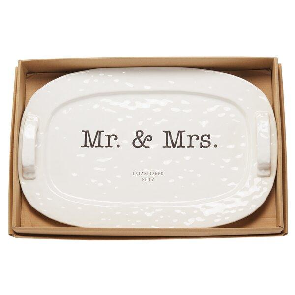 Mr. & Mrs. Established 2017 Platter by Mud Pie™