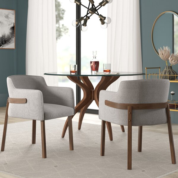Mukai Upholstered Dining Chair (Set of 2) by Mercury Row