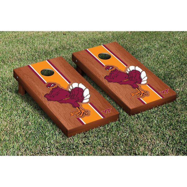 NCAA Rosewood Stained Stripe Version 2 Cornhole Game Set by Victory Tailgate