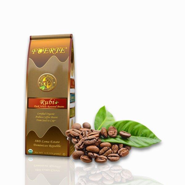 Rubi Dark Roast USDA Organic Bean Coffee, 1 lb by Fuerte