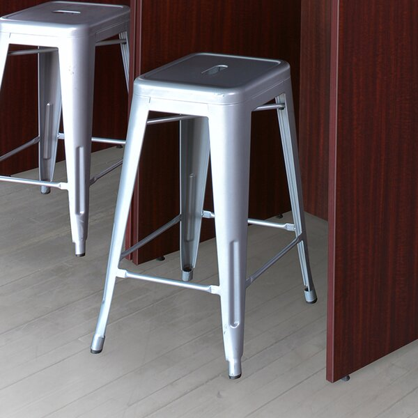 Bizzell Contemporary Metal Frame Accent Stool by Orren Ellis