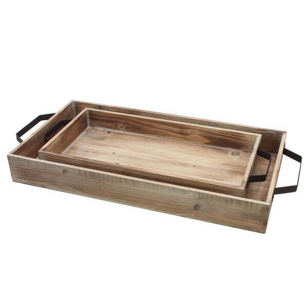 Ivan 2 Piece Accent Tray Set by Millwood Pines
