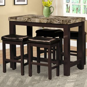 Stansell 5 Piece Pub Table Set by Alcott Hill