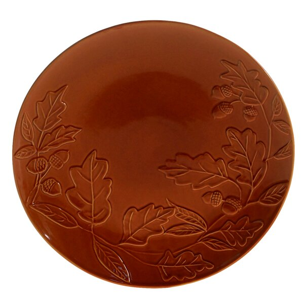 Layla Acorn Pumpkin Round Platter by The Holiday Aisle