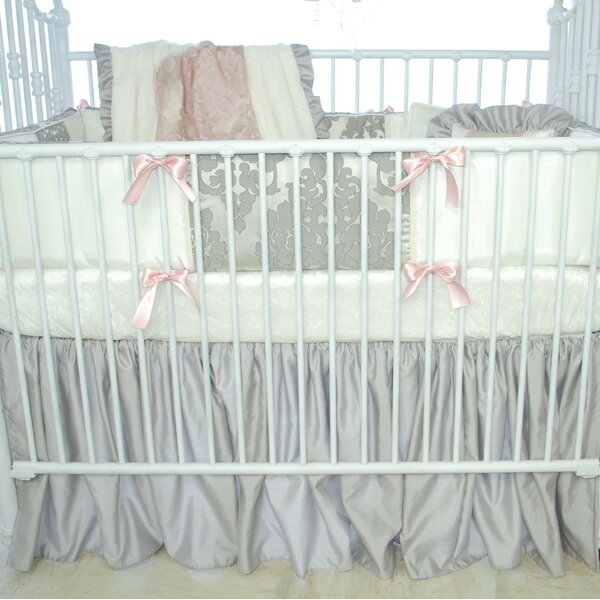 Pink Champagne Crib Dust Ruffle by Blueberrie Kids