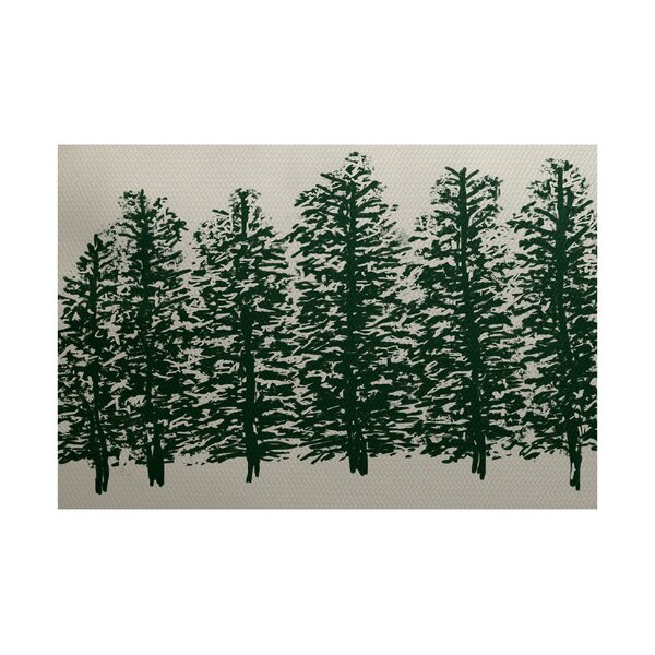 Wetterhorn Dark Green Indoor/Outdoor Area Rug by Loon Peak