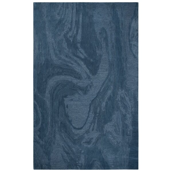 Phan Hand-Tufted Wool Blue Area Rug by Red Barrel Studio