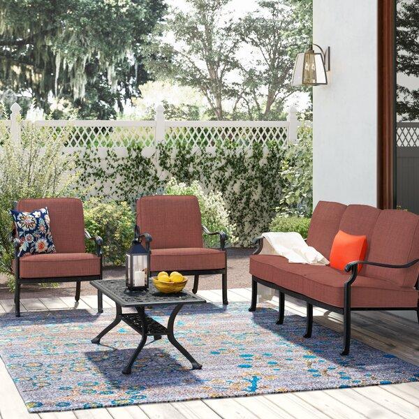 Mccraney 4 Piece Sofa Set with Cushions
