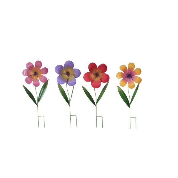 Flower Garden Stake (Set of 4) by Attraction Design Home