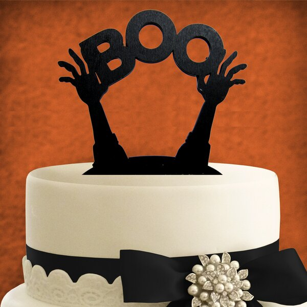 Boo Halloween Cake Topper by aMonogram Art Unlimited