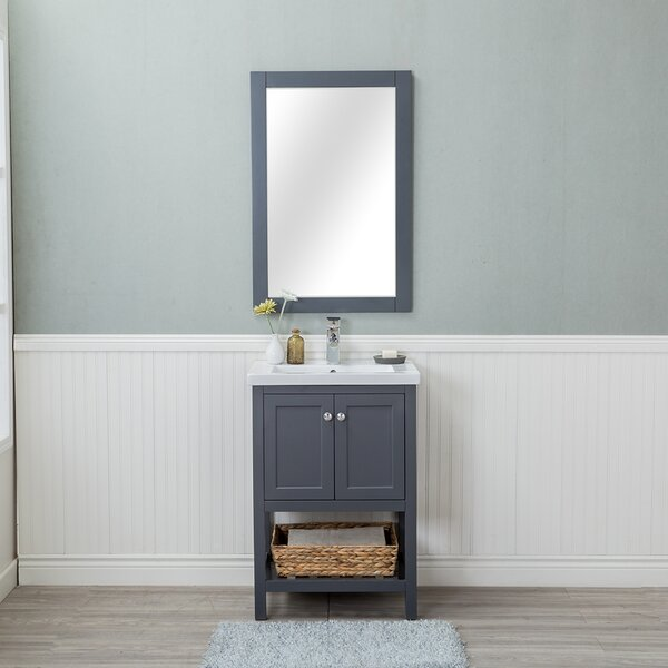 Amandari 24 Single Bathroom Vanity Set with Mirror by Winston PorterAmandari 24 Single Bathroom Vanity Set with Mirror by Winston Porter