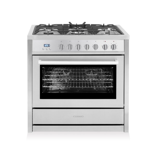 36 Free-standing Dual Fuel Range by Cosmo