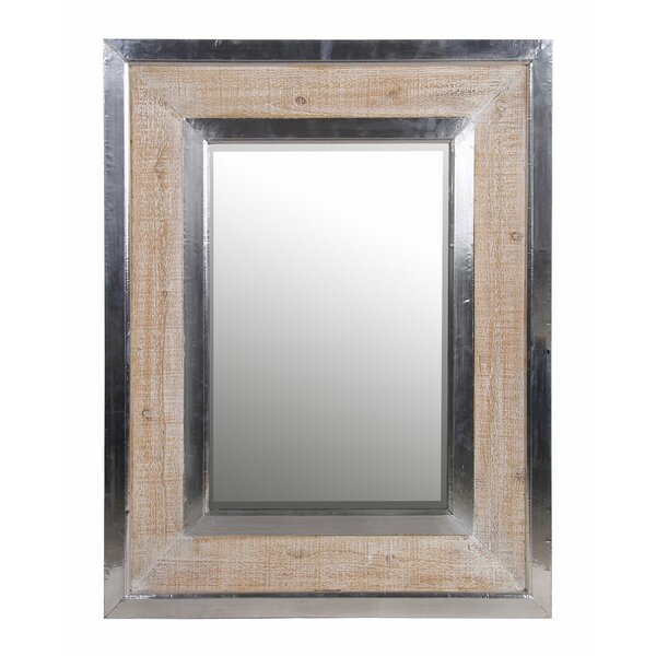 Chrome/Brown Frame Accent Mirror by 17 Stories