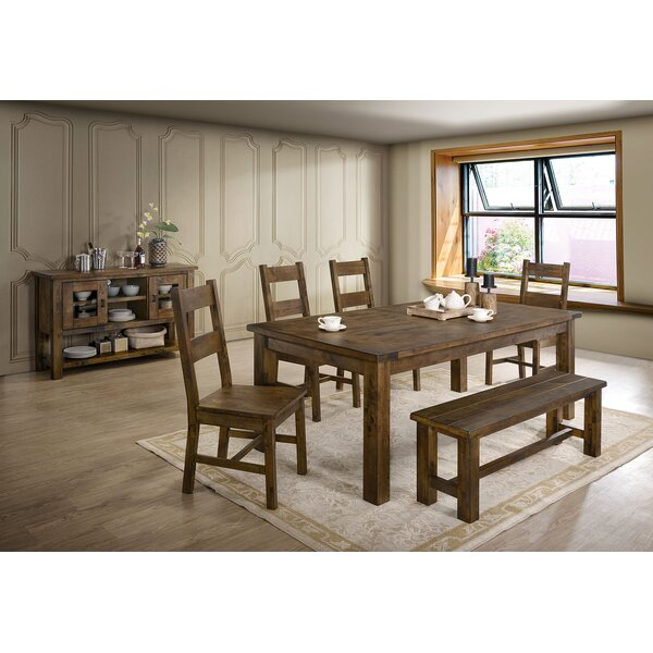 Brickhouse 6 Piece Dining Set by Loon Peak