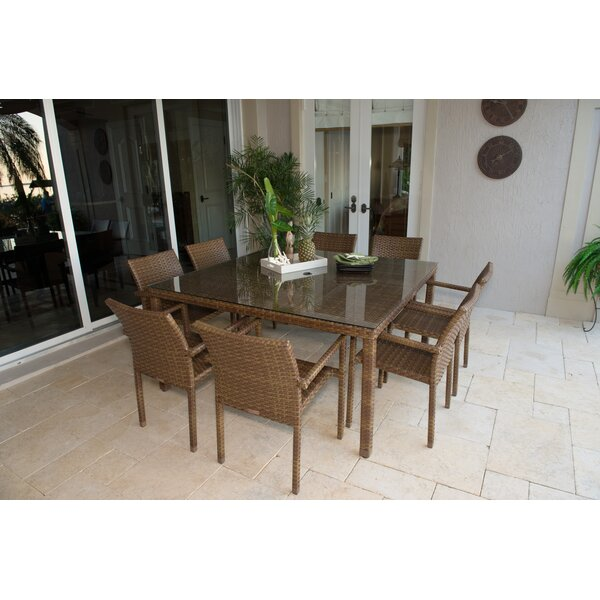 St Barths 9 Piece Dining Set by Panama Jack Outdoor