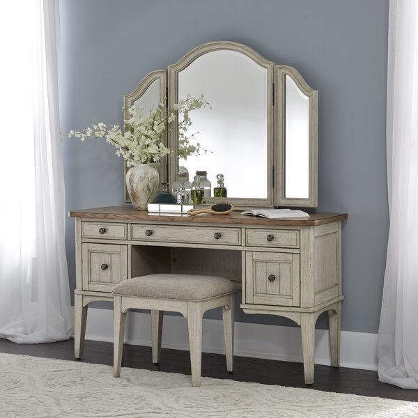 Strickler Vanity Set with Mirror by Gracie Oaks