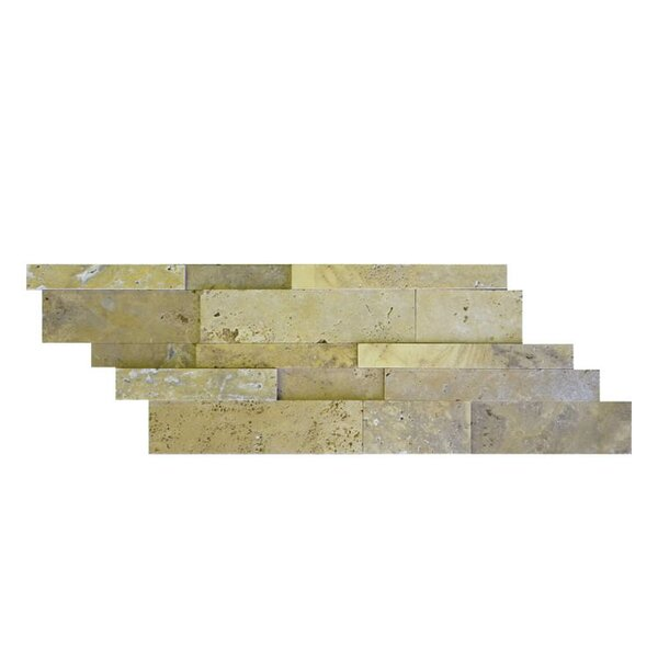 Honed Natural Stone Mosaic Tile in Gold by QDI Surfaces