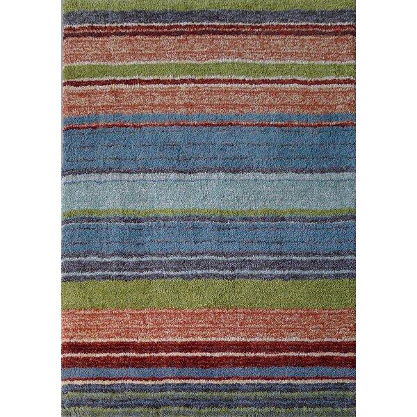 Alrik Hand-Tufted Blue/Brown/Green Area Rug by Red Barrel Studio