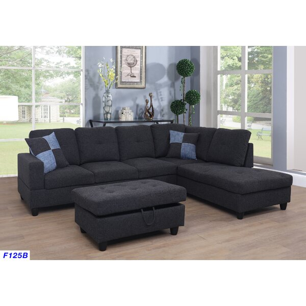 Mendoza Right Hand Facing Sectional With Ottoman By Ebern Designs