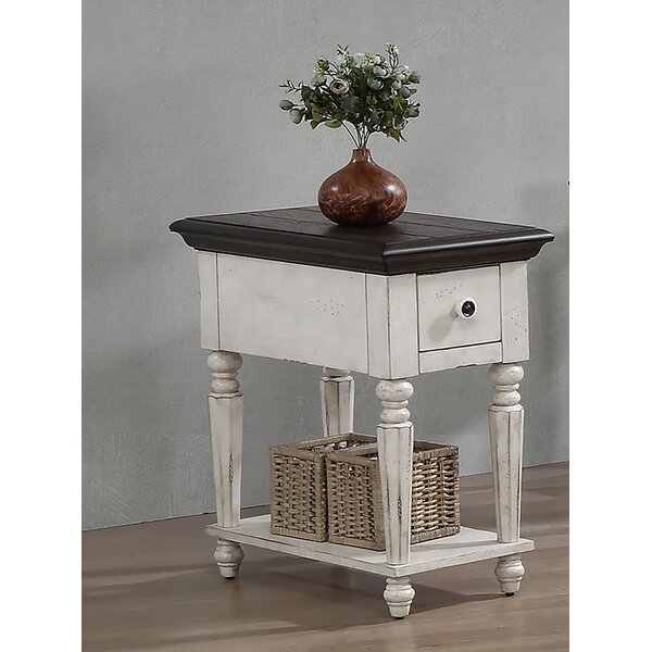 Cairo Vintage Estates End Table with Storage by August Grove August Grove