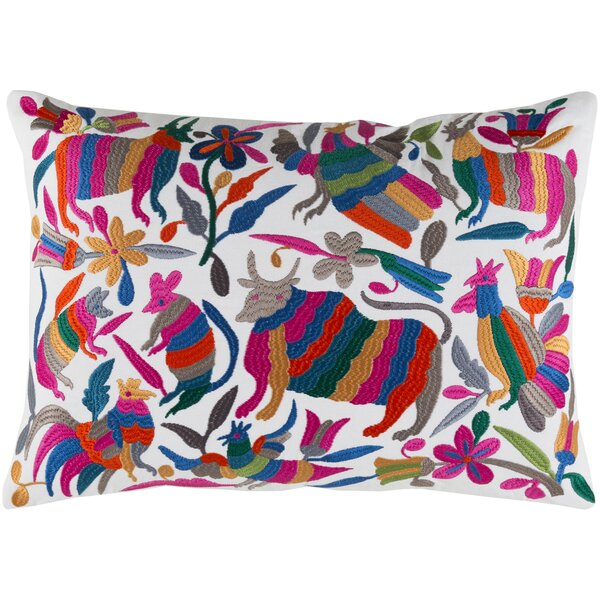 Safiya Cotton Lumbar Pillow by Bungalow Rose