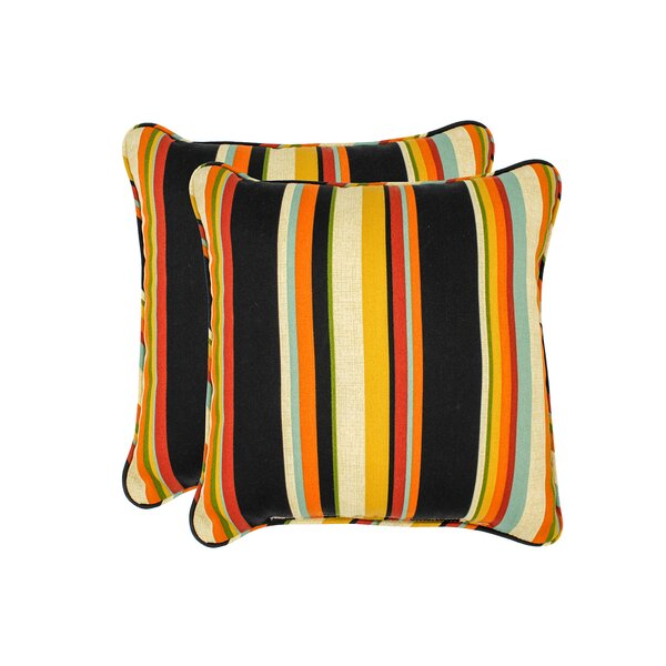 Monroeville Stripe Outdoor Throw Pillow (Set of 2) by Red Barrel Studio
